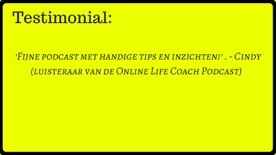 online life coach podcast testimonial 2