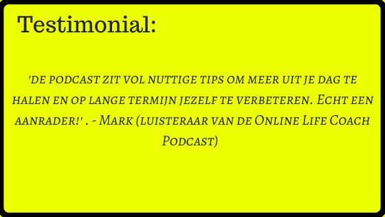 testimonial online life coach podcast